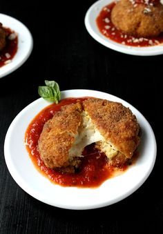 A low-carb, low-fat version of traditional arancini, these extra cheesy Baked Cauliflower Arancini are completely delicious and take just an hour to make!