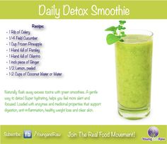 This green smoothie sounds delicious! via YoungandRaw.com