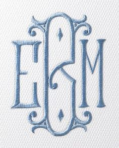 ideas for embroidery monogram letters products Monogram Design, Monogram Styles, Logo Design, Monogram Gifts, Monogram Letters, Free Monogram, Embroidery Monogram Fonts, Embroidery Designs, Monogrammed Napkins