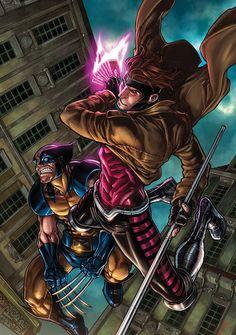 Wolverine Gambit X-Men Marvel Dc Comics, Gambit Marvel, Gambit X Men, Comics Anime, Comic Manga, Fun Comics, Marvel Heroes, Comic Book Characters, Comic Book Heroes