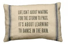 {Vintage Feedsack Feel} Dance In The Rain Pillow~from DECOR STEALS