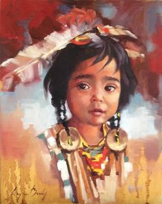 Mikayla by Layne Brady Native American Children, Native American Artwork, Native American Beauty, American Indian Art, Native American History, Native American Indians, Native Indian, Native Art, Indian Tribes