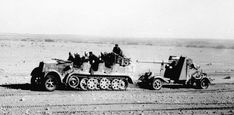 In late 1941 the German 88mm was arriving in increasing numbers.  A high velocity flak gun provided with a very effective anti-tank round, it proved deadly to allied armour right till the end of the war, but was at its best in the desert where its great range could be exploited: one of the iconic weapons of the war.