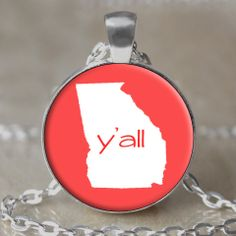 Y'all Southern Necklace / Keychain by 4EverAlwaysDesigns on Etsy, $12.00