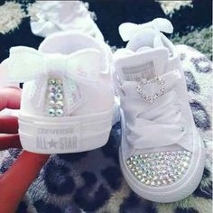 Baby Girl Outfits Converse Kids Fashion 58 Ideas For 2019 Baby Girl Shoes, My Baby Girl, Girls Shoes, Baby Baby, Bling Baby Shoes, Cute Baby Shoes, Baby Girls, Bedazzled Shoes, Sparkly Shoes