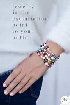 Freshen up your look with the latest trends in bracelets and other jewelry at JTV Pearl Jewelry, Wire Jewelry, Jewelry Crafts, Jewelry Art, Beaded Jewelry, Jewelry Bracelets, Jewelery, Jewelry Accessories, Handmade Jewelry