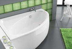 W małej łazience nie trzeba rezygnować z wanny. Na rynku dostępne są modele, które zostały zaprojektowane specjalnie z myślą o takich wnętrzach – są małych rozmiarów, ale  jednocześnie ich kształty gwarantują komfortową kąpiel. Wanna Tinos o wymiarach 140x95 cm zmieści się nawet w mikro łazienkach.