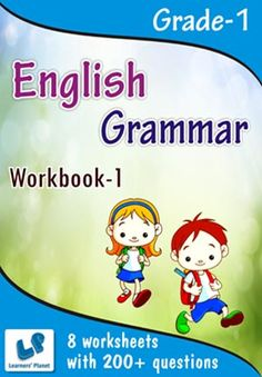 GRADE-1-ENGLISH-GRAMMAR-WORKBOOK-1 This workbook contains worksheets on English – Grammar (Alphabetical Order, Word Recognition, Matching Pictures, Punctuate the Sentences) for Grade-1 students.  There are total 8 printable worksheets with 200+ questions.   Pattern of questions : Multiple Choice Questions…    PRICE :- RS.149.00