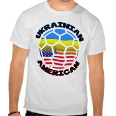 Ukrainian American Soccer T-Shirt Tee Shirt. Love #soccer? Check this out! To see this design on a range of other products, please visit my store: www.zazzle.com/celticana*/ #UkrainianAmerican #zazzle
