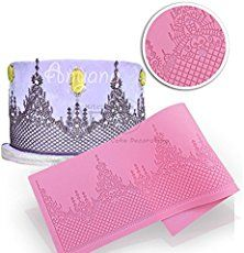 Anyana Wedding Decoration 360133mm Fondant Silicone Mold Cake Molds Lace Mat Cooking Tools Kitchen Accessories Cupcake Chocolate