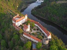 Bítov gothic castle in South Moravia, Czechia