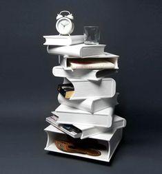 Stack of Books Bookshelf/Table