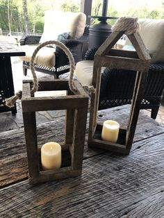 Make your own DIY rustic wood lantern with just a few supplies. These step by step instructions with detailed pictures will help you make your own. Decorate your lantern for Christmas, Fall, or anytime! Rustic Lantern Centerpieces, Rustic Lanterns, Lantern Diy, Homemade Lanterns, Spring Projects, Spring Crafts, Rustic Crafts, Christen, Diy And Crafts