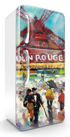 Naklejka na lodówkę NL644 - Czerwony Młyn