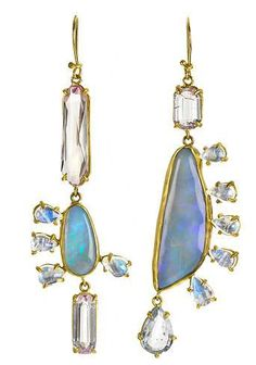Jewels In The Crown: Top Fashion Jewelry Trends To Look Out For - edlen Schmuck Opal Earrings, Jewelry Art, Gemstone Jewelry, Jewelry Accessories, Fine Jewelry, Fashion Jewelry, Jewelry Design, Fashion Accessories, Jewellery