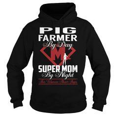 Pig Farmer Super Mom Job Title TShirt