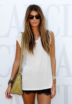 Bianca Brandolini wearing Dezso by Beltrán ANADARA POLKI TASSEL gold, shell-carved smoked quartz on cord necklace. Available @ WHITE bIRD Jewellery.