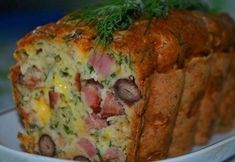 """Meat cake"" Ingredients: smoked meat (sausage) — 350 g - boiled beans (or from banks in C/C) - 400 g - cheese — 100 g - sour cream — 100 g - Breakfast Bread Puddings, Breakfast Casserole, How To Make Cake, Food To Make, Savory Cupcakes, Meat Cake, Beef Recipes, Cooking Recipes, Cake Recipes"