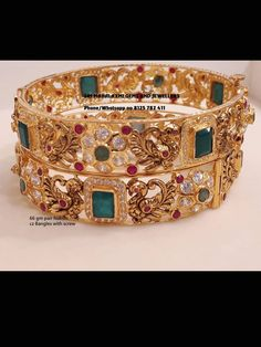 Gold Bangles Design, Gold Earrings Designs, Antique Jewellery Designs, Gold Jewellery, Gold Plated Bangles, Hindus, Bengal, Blouse, Bracelets