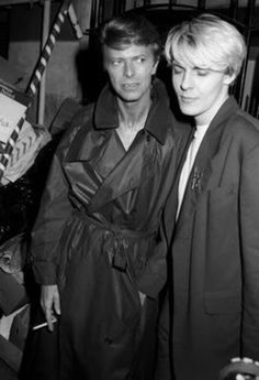 David Bowie and Nick Rhodes David Jones, David Bowie, Nick Rhodes, Marc Bolan, The Thin White Duke, John Taylor, Ziggy Stardust, Post Punk, Most Beautiful Man