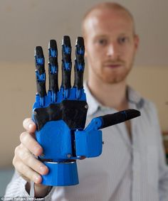3D printed hand could change the world: Graduate creates £600 robotic limb that could reduce production costs by 99%