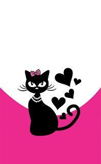 IMAGENS DE ADESIVOS DE UNHAS: 25 de 200 Parte 5 - Lindas Imagens de Adesivos de Unhas Black Cat Art, Cat Wallpaper, Cat Tattoo, Cat Drawing, Crazy Cats, Cool Cats, Rock Art, Painted Rocks, Cat Lovers