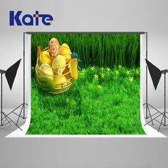 5X7ft Kate New Easter Eggs Green Grass Backgrounds for Photo Studio Camera Fotografica