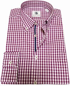 Goal Line Shirt in Purple Gingham by Southern Proper. New for Fall 2013, this great shirt by Southern Proper is sure to be a classic! #SouthernProper #preppy #shirt http://www.countryclubprep.com/goal-line-shirt-in-purple-gingham-by-southern-proper.html