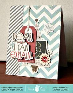 JennyEvans_FPD_DearSanta_card - Fancy Pants Designs | World Card Making Day