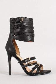 Joan-01 Strappy Cuff Open Toe Heel