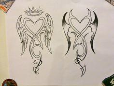 angel devil tattoos for women | Angel & Devil Tattoo Concept