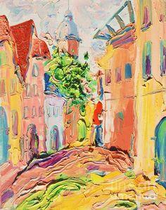 Old Riga. latvia by Tatjana Krilova Riga Latvia, Oil Paintings, Greeting Cards, Wall Art, Canvas, Tela, Canvases, Oil On Canvas, Wall Decor