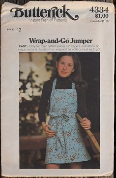 Butterick 4334 1970s 70s Wrap and Go Jumper by EleanorMeriwether