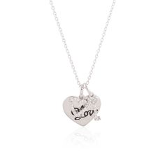 Sterling Silver Love Heart With Heart