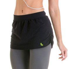 Women's Lupo Tapa Seamless Shirred Fitness Skirt,