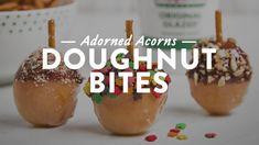 Adorned Acorn Doughnut Bites