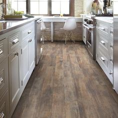 "Shaw Floors Vintage Painted 5"" x 48"" x 8mm Laminate in Weathered Wall"