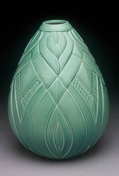 Lynne Mead: Love Song in Celadon Vase 10 inches in height