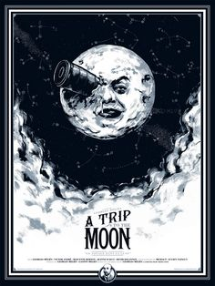 A Trip to the Moon - 1902 - (French: Le Voyage dans la lune) Silent Sci-Fi film.  The film was written & directed by Georges Méliès, assisted by his brother Gaston. The film runs 14 minutes. This is the first science fiction film, & utilizes innovative animation, special effects.
