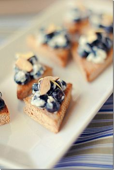 Blueberry Almond Crostinis