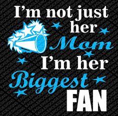 SVG, DXF, EPS Cut File, Cheer I'm Not Just Her Mom I'm Her Biggest Fan, Cheer Svg, Cheer Mom Svg, Megaphone Svg, Svg Vector File, Svg Design by EagleRockDesigns on Etsy