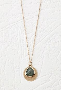 Faux Stone Pendant Necklace | Forever 21 - 1000173238