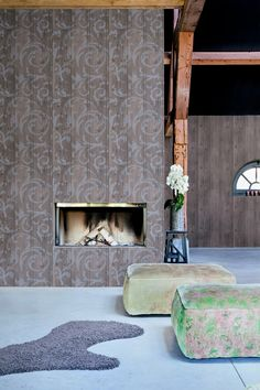Behang hout / Wallpaper wood collection More Than Elements - BN Wooden Wallpaper, Wood Effect Wallpaper, Brown Wallpaper, Home Wallpaper, Design Home App, House Design, Special Wallpaper, Versace Home, Living Styles