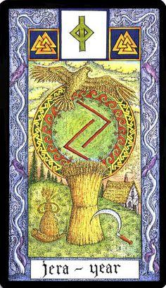 12 Jera - Witches Runes by Silver RavenWolf and Nigel Jackson Norse Mythology Goddesses, Women In Mythology, Norse Goddess, Gods And Goddesses, Alphabet Symbols, Rune Symbols, Vikings, Inverted Pentagram, Rune Tattoo