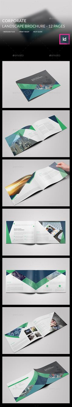 Corporate Landscape Brochure Template #design #broschüre Download: http://graphicriver.net/item/corporate-landscape-brochure-/12499337?ref=ksioks