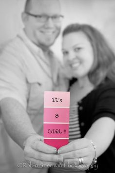 Gender reveal photo-love this