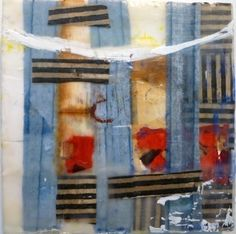 """8""""x8"""" encaustic and mixed media on board by Amy Weil  SOLD"""