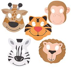 These fun Zoo Animal Masks make great party favors for all the guests to wear at a safari or jungle themed party. Twelve masks per package.