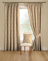 Double lined cream curtains
