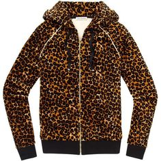 Juicy Couture Relaxed Jacket in Leopard Velour ($110)